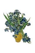 Van Gogh - Irissen - Flat Flower Raamsticker